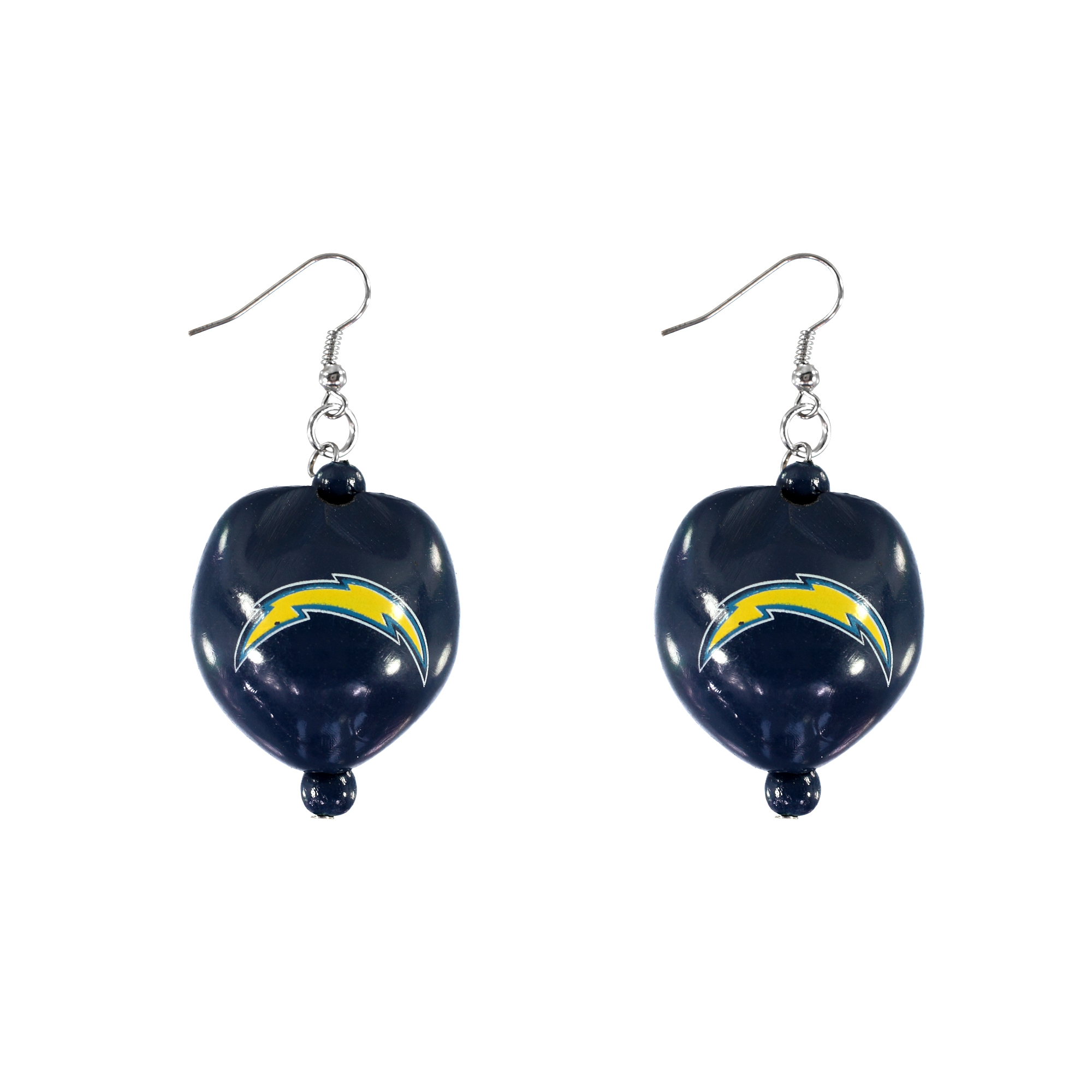 Los Angeles Chargers Kukui Nut Earrings Real Fans Go Nuts