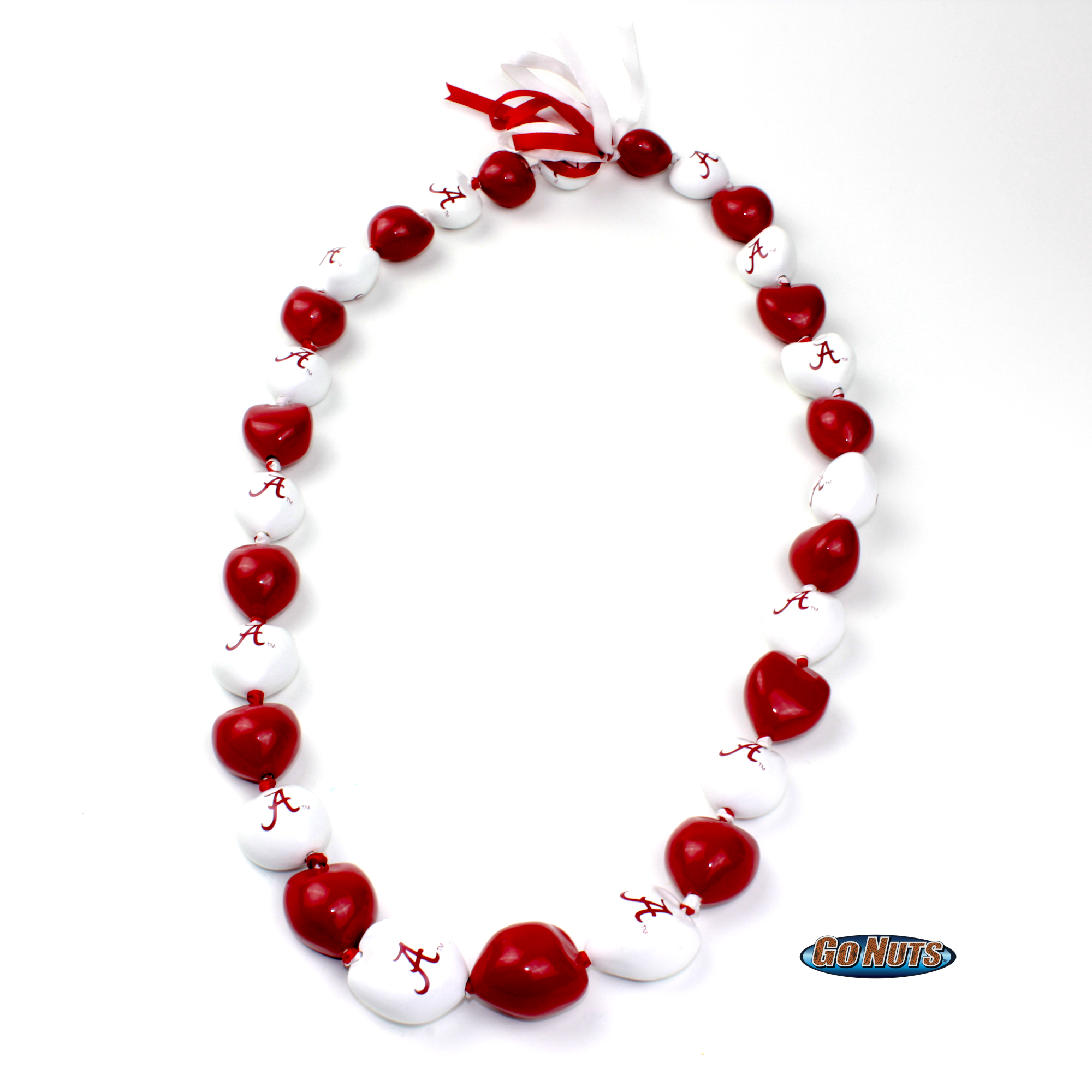 kukui product nut crimson university fans nuts alabama real go necklace tide